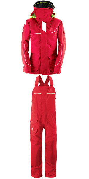 2018 Henri Lloyd Elite Offshore 2.0 Jacket Y00376 & Hi Fit Trousers Y10174 COMBI SET NEW RED