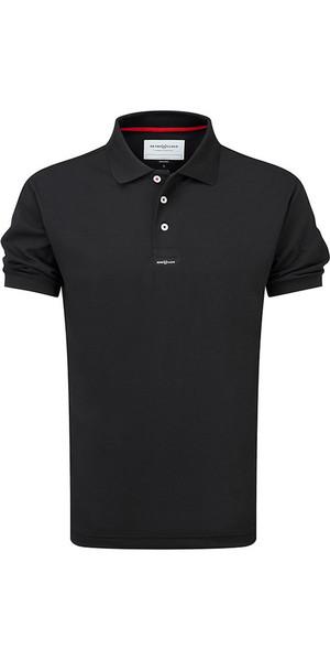 2018 Henri Lloyd Fast Dri Silver Plain Polo in Black Y30282