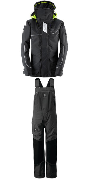 2018 Henri Lloyd Womens Elite Offshore 2.0 Jacket Y00377 & Hi Fit Trousers Y10175 COMBI SET BLACK