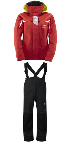 Henri Lloyd Womens Wave Inshore Jacket Y00354 & Hi-Fit Trousers Y10162 COMBI SET CORAL / BLACK