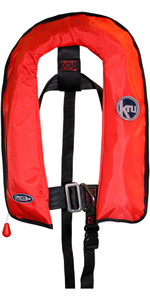 2019 Kru Junior XF Automatic Life Jacket with Harness Red LIF7569