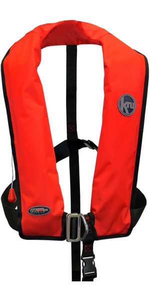 2018 Kru XF ISO Auto Gas Life Jacket With Harness Red LIF7573