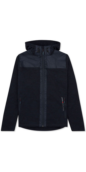 Musto Bruma Womens Hoody Fleece Navy / Fire Orange SE3540