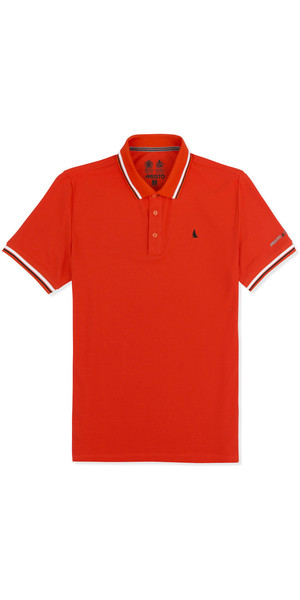 Musto Evolution Pro Lite Short Sleeve Polo FIRE ORANGE EMPS013
