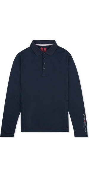 Musto Evolution Sunblock Long Sleeve Polo TRUE NAVY EMPS011