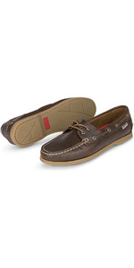 2019 Musto Womens Harbour Moccasin Deck Shoes Dark Brown FWFT002