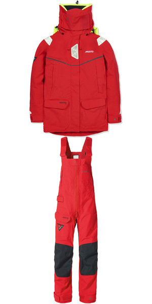 Musto Womens MPX Goretex Offshore Jacket SM151W3 & Trouser SM1520 Combi Set RED
