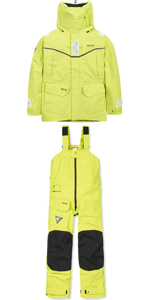 MUSTO MPX GORETEX Offshore Jacket SM1513 + Trouser SM1505 Combi Set SULPHUR SPRING