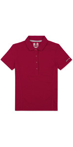 Musto Womens Evolution Sunblock Short Sleeve Polo CERISE EWPS006