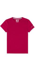 Musto Womens Evolution Sunblock Short Sleeve T-Shirt CERISE EWTS008