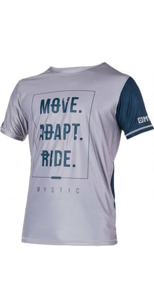Mystic Block Short Sleeve Loosefit Quick Dry Rash Vest Steel / Grey 170285