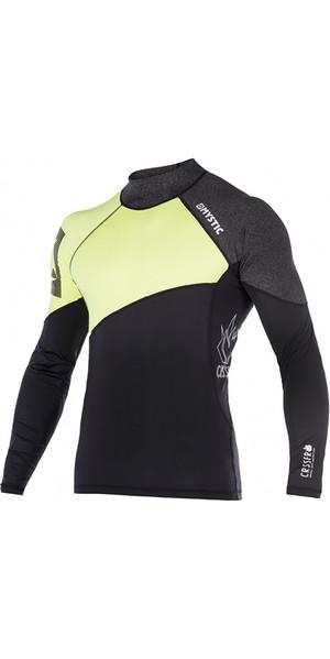 Mystic Crossfire Long Sleeve Rash Vest Lime 170280