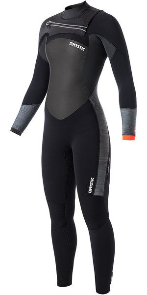 Mystic Diva Womens 3/2mm Chest Zip Wetsuit Black 170060