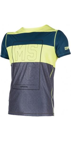 Mystic Drip Loosefit Quick Dry Short Sleeve Rash Vest Lime 170287