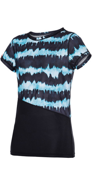 Mystic Womens Dazzled Short Sleeve Quick Dry Top MINT 170300