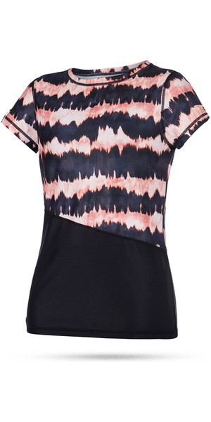 Mystic Womens Dazzled Short Sleeve Quick Dry Top PINK 170300