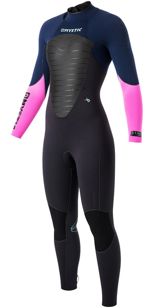Mystic Ladies Star 5/4mm GBS Back Zip Steamer Wetsuit Navy 140060