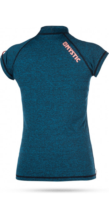 Mystic Womens Star Short Sleeve Rash Vest TEAL 170299