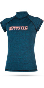 Mystic Womens Star Short Sleeve Rash Vest TEAL 170299
