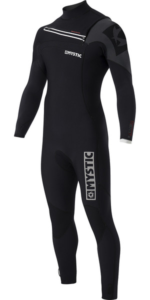 Mystic Majestic 3/2mm GBS Chest Zip Wetsuit - Black 170020