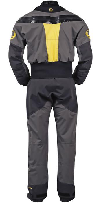 2020 Nookie Blaze Canoe / Kayak Drysuit + Con Zip Yellow / Charcoal  DR20