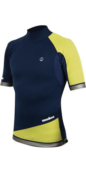 2019 Nookie Ti 1mm Neoprene Short Sleeve Vest Top Navy / Yellow NE03