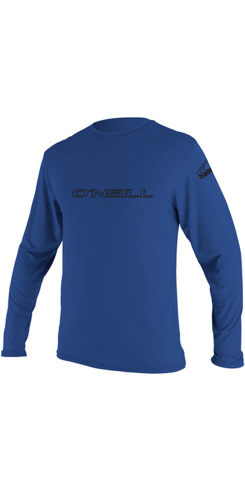 2021 O'Neill Basic Skins Long Sleeve Rash Tee PACIFIC 4339