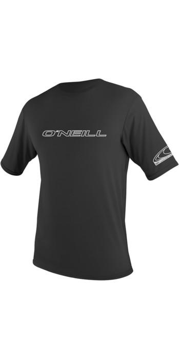 2021 O'Neill Basic Skins Short Sleeve Rash Tee BLACK 3402