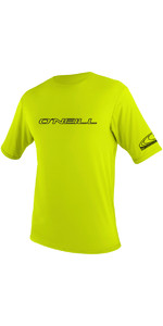 2019 O'Neill Mens Basic Skins Short Sleeve Rash Tee LIME 3402