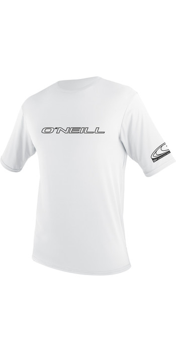 2021 O'Neill Basic Skins Short Sleeve Rash Tee WHITE 3402