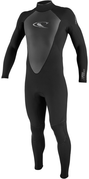2018 O'Neill Hammer 3/2mm Flatlock Back Zip Wetsuit BLACK 4291