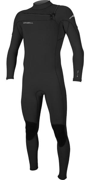 2019 O'Neill Hammer 3/2mm Chest Zip Wetsuit BLACK 4926