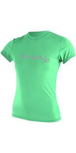 2019 O'Neill Womens Basic Skins Short Sleeve Rash Tee SEAGLASS 3547