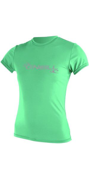 2018 O'Neill Womens Basic Skins Short Sleeve Rash Tee SEAGLASS 3547