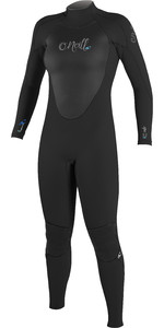 2018 O'Neill Ladies Epic 4/3mm Back Zip GBS Wetsuit BLACK 4214