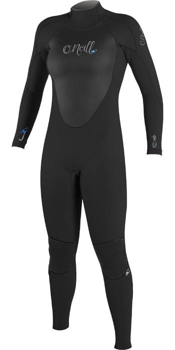 O'Neill Womens Epic 4/3mm Back Zip GBS Wetsuit BLACK 4214
