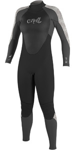 2018 O'Neill Womens Epic 4/3mm Back Zip GBS Wetsuit BLACK / GRAPH / VIDA 4214