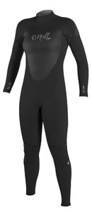 2018 O'Neill Womens Epic 5/4mm Back Zip GBS Wetsuit BLACK / BLACK 4218