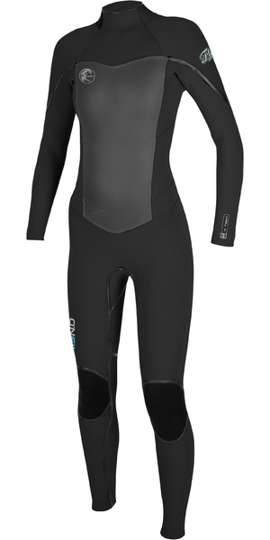 O'Neill Womens Flair 5/4mm Back Zip GBS Wetsuit BLACK 4817
