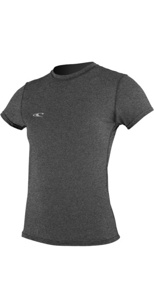 O'Neill Womens Hybrid Short Sleeve Surf Tee GRAPHITE 4675