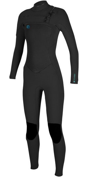 2018 O'Neill Ladies O'Riginal 5/4mm Chest Zip Wetsuit BLACK 4997