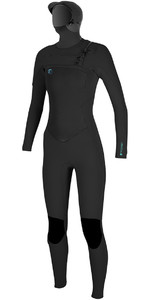 O'Neill Womens O'Riginal 6/5/4mm Hooded Chest Zip Wetsuit BLACK 4998