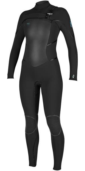 2018 O'Neill Womens Psycho Tech 5/4mm Chest Zip Wetsuit BLACK 4989
