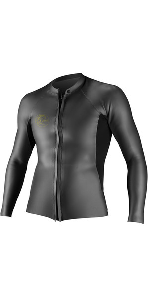 2018 O'Neill O'Riginal 2mm GBS Front Zip Glideskin Jacket BLACK 4646
