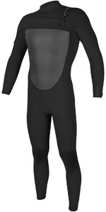 2018 O'Neill O'riginal 5/4mm Chest Zip Wetsuit BLACK 4996