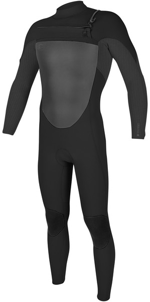 2018 O'Neill O'riginal 4/3mm Chest Zip Wetsuit BLACK / GRAPHITE / PIN 5012