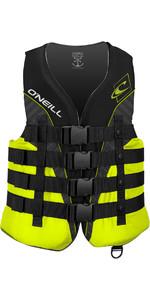 O'Neill Superlite 50N CE Impact Vest BLACK / LIME / SMOKE 4723