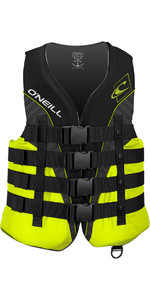 O'Neill Superlite 50N CE Impact Vest BLACK / LIME / SMOKE 4723