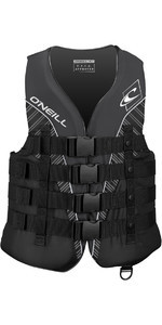 2020 O'Neill Superlite 50N CE Impact Vest BLACK / SMOKE / WHITE 4723