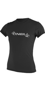 2021 O'Neill Womens Basic Skins Short Sleeve Rash Tee BLACK 3547